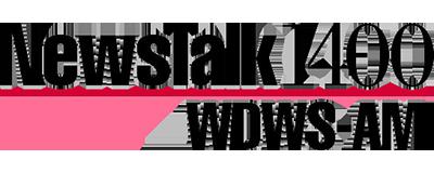 Logo for NewsTalk 1400 WDWS-AM